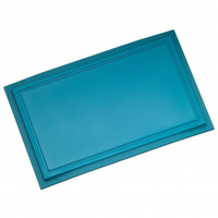 WMF 18.7950.3200 Rechteckig Kunststoff Blau Küchen-Schneidebrett (Blau)