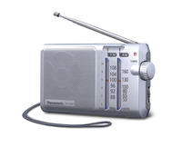Panasonic RF-U160D Tragbar Digital Silber Radio (Silber)