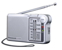 Panasonic RF-P150DEG Tragbar Analog Silber Radio (Silber)