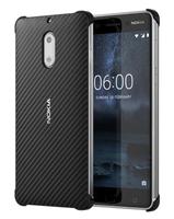 Nokia Carbon Fiber Design Case CC-802 Abdeckung Schwarz (Schwarz)