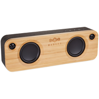 The House Of Marley GET TOGETHER Stereo portable speaker Schwarz, Holz (Schwarz, Holz)