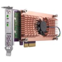 QNAP QM2-2S Eingebaut SATA Schnittstellenkarte/Adapter (Schwarz, Braun, Edelstahl)