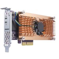 QNAP QM2-2P Eingebaut PCIe Schnittstellenkarte/Adapter (Schwarz, Braun, Edelstahl)