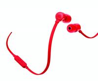 JBL T110 im Ohr Binaural Verkabelt Rot Mobiles Headset (Rot)