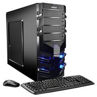 Hyrican Alpha Gaming 5555 3.5GHz 1500X Tower Schwarz PC (Schwarz)
