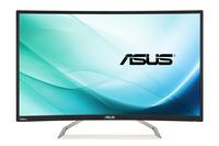 ASUS VA326H 31.5Zoll Full HD Matt Schwarz Gebogen Computerbildschirm (Schwarz)