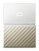 Western Digital My Passport Ultra WLAN 2000GB Weiß Externe Festplatte (Gold, Weiß)