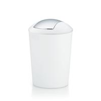 Kela Marta 5l Rund Kunststoff Silber, Weiß Mülleimer (Silber, Weiß)