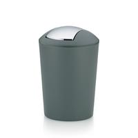 Kela Marta 5l Rund Kunststoff Grau, Silber Mülleimer (Grau, Silber)