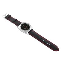 xlyne 540043 Band Schwarz, Rot Leder Smartwatch-Zubehör (Schwarz, Rot)
