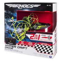Air Hogs Hyper Drift Drone (2 in 1) Green Remote controlled hybrid quadcopter (Schwarz, Grün)