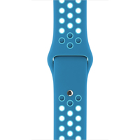 Apple 38 mm Nike Sportarmband, Blue Orbit/Gamma Blue (Blau)