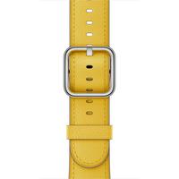 Apple 42 mm Klassisches Lederarmband, Sonnenblume (Gelb)