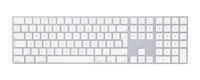 Apple MQ052D/A Bluetooth QWERTZ Deutsch Weiß Tastatur (Weiß)