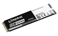 Kingston Technology KC1000 NVMe PCIe SSD 480GB, M.2 PCI Express 3.0 (Schwarz, Weiß)