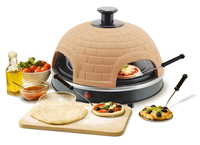 Emerio PO-110449 4Pizza/Pizzen 1000W Terrakotta Pizzamacher/Ofen (Orange, Terrakotta)