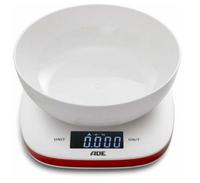 ADE Amelie Tisch Elektronische Küchenwaage Rot, Weiß (Rot, Weiß)