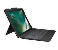 Logitech Slim Combo Smart Connector Deutsch Schwarz Tastatur für Mobilgeräte (Schwarz)