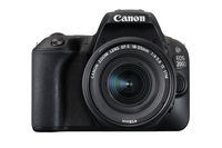 Canon EOS 200D + EF-S 18-55mm 4.0-5.6 IS STM SLR-Kamera-Set 24.2MP CMOS 6000 x 4000Pixel Schwarz (Schwarz)