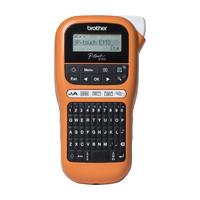Brother PT-E110VP Direkt Wärme Farbe 180 x 180DPI Etikettendrucker (Schwarz, Orange)