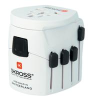 Skross 1.103175 Universal Weiß Netzstecker-Adapter (Weiß)