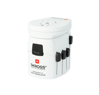 Skross PRO – World & USB Universal Universal Weiß Netzstecker-Adapter (Weiß)