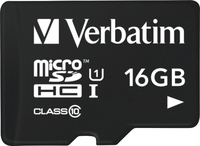 Verbatim Tablet U1 microSDHC-Karte mit USB Reader 16 GB (Schwarz)