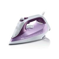 Braun SI 7066 VI Trocken-Bügeleisen Eloxalsohle 2600W Violett, Weiß Bügeleisen (Violett, Weiß)