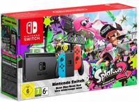 Nintendo Switch neon + Splatoon 2 6.2Zoll 32GB WLAN Schwarz, Blau, Rot Tragbare Spielkonsole (Schwarz, Blau, Rot)