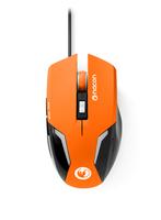 NACON GM-105 USB Optisch 2400DPI rechts Schwarz Maus (Schwarz, Orange)
