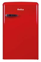 Amica VKS 15620 R Freistehend 121l A++ Rot Kühlschrank (Rot)