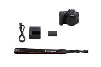 Canon EOS 200D + EF-S 18-55mm BAG 100EG + SD Card 16GB SLR-Kamera-Set 24.2MP CMOS 6000 x 4000Pixel Schwarz (Schwarz)