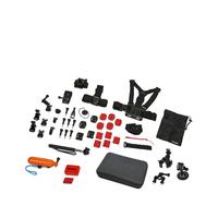 Rollei 21643 Universal Kameraausrüstung Zubehör für Actionkameras (Schwarz, Orange, Rot)