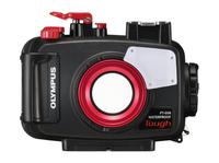 Olympus PT‑058 Kompaktes Gehäuse Schwarz, Rot (Schwarz, Rot)