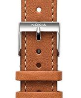Nokia 4381645 Watch strap Leder, Edelstahl Braun Uhrenarmband (Braun)