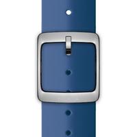 Nokia 4381629 Watch strap Silikon, Edelstahl Blau Uhrenarmband (Blau)