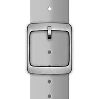 Nokia 4381618 Watch strap Silikon, Edelstahl Grau Uhrenarmband (Grau)