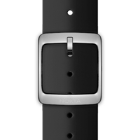 Nokia 4381641 Watch strap Silikon, Edelstahl Schwarz Uhrenarmband (Schwarz)
