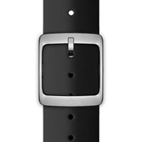Nokia 4381643 Watch strap Silikon, Edelstahl Schwarz Uhrenarmband (Schwarz)