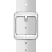 Nokia 4381639 Watch strap Silikon, Edelstahl Weiß Uhrenarmband (Weiß)
