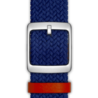 Nokia 4381623 Watch strap Leder, Polyester, Edelstahl Blau Uhrenarmband (Blau)