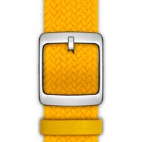 Nokia 4381653 Watch strap Leder, Polyester, Edelstahl Gelb Uhrenarmband (Gelb)