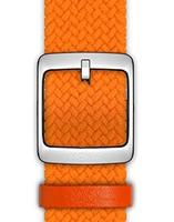Nokia 4381655 Watch strap Leder, Polyester, Edelstahl Orange Uhrenarmband (Orange)