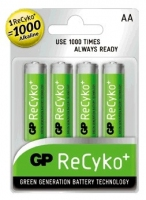 GP Batteries NiMH rechargeable batteries ReCyko Accu AA