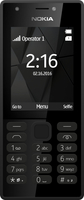 Nokia 216 Dual-SIM 2.4Zoll 82.6g Schwarz Funktionstelefon (Schwarz)
