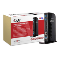 CLUB3D USB 3.0 Dual Display 4K60Hz Docking Station (Schwarz)