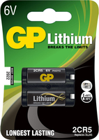 GP Batteries Lithium 2CR5 (Schwarz)
