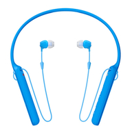Sony WI-C400 im Ohr, Nackenband Binaural Kabellos Blau Mobiles Headset (Blau)