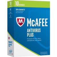 McAfee AntiVirus Plus 2018 10Benutzer Base license