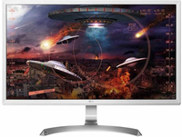 LG 27UD59-W 27Zoll 4K Ultra HD IPS Silber, Weiß Flach Computerbildschirm LED display (Silber, Weiß)